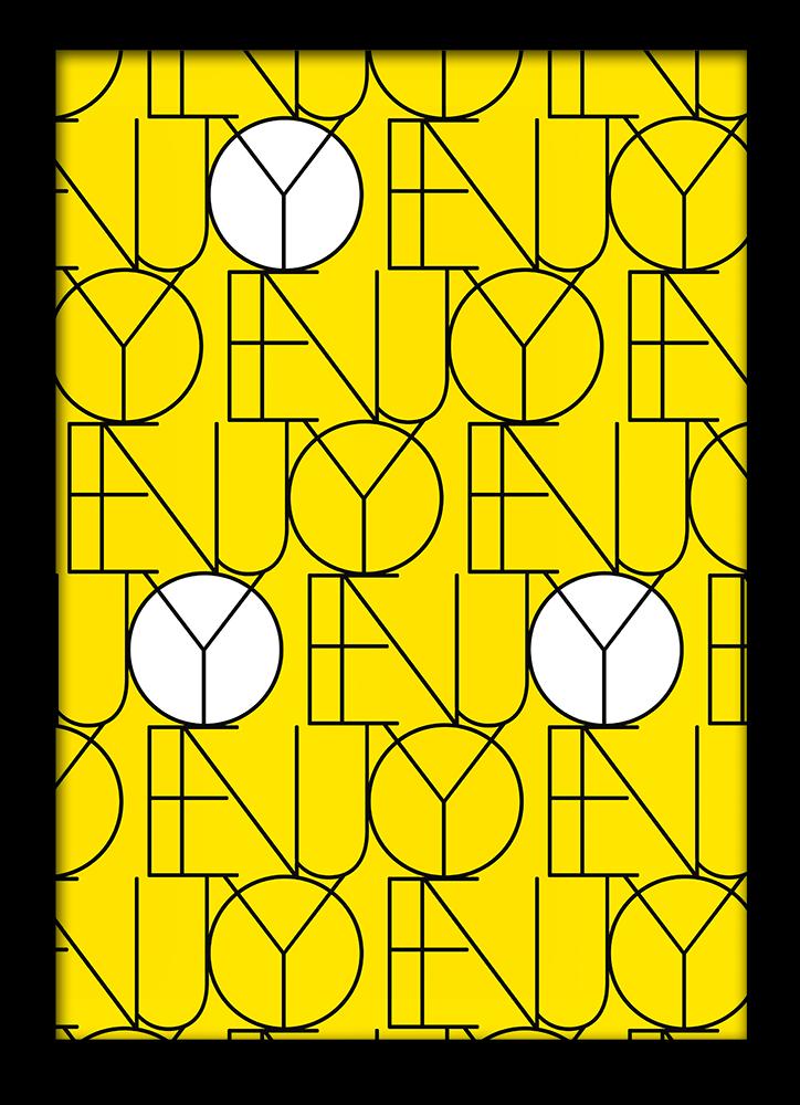 letter poster grafisch geel ENJOY
