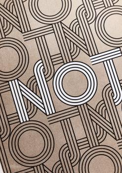 Poster met tekst not woord