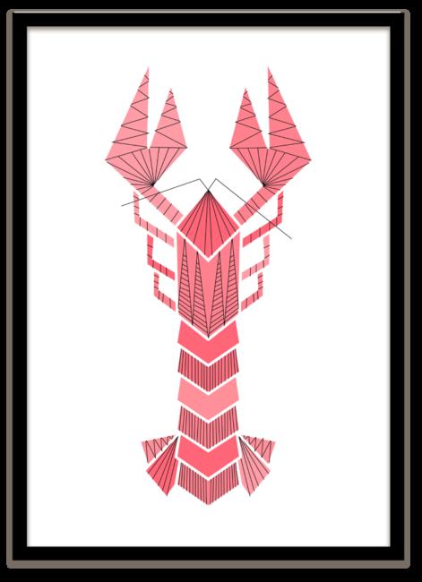 Pillah poster Lobster leuk voor aan de muur