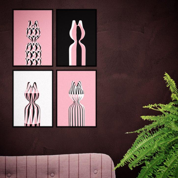 poster serie CAT lege muur aankleden